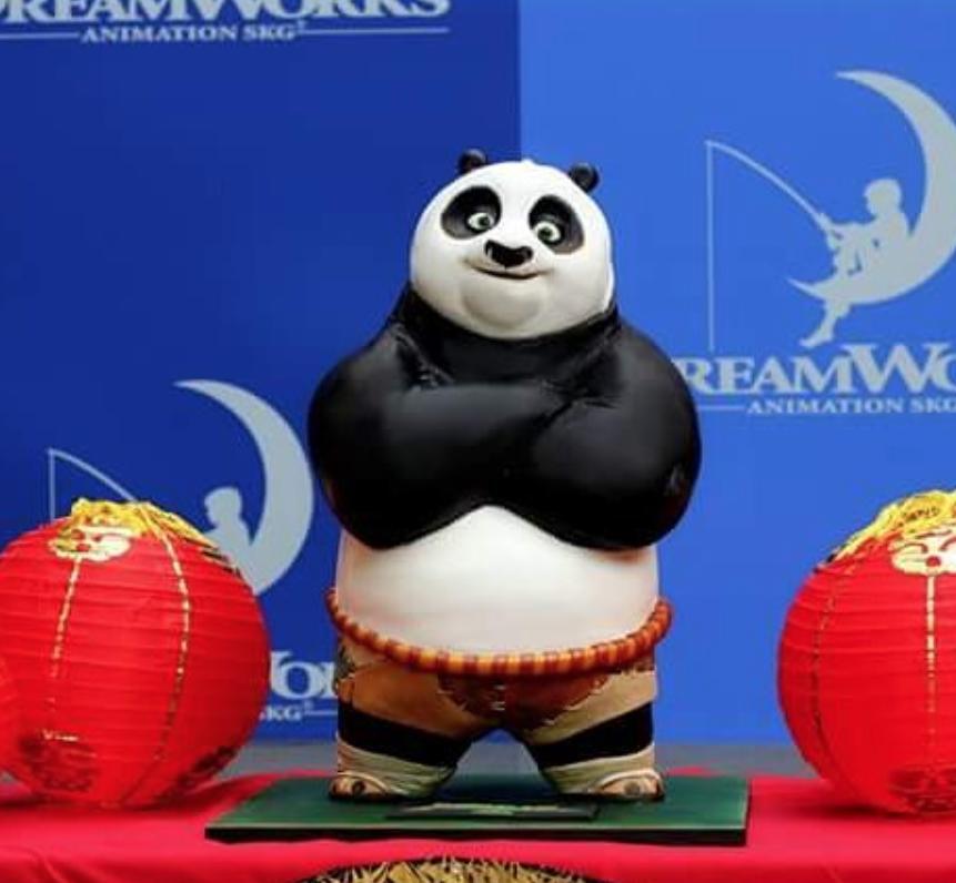 Fondant Kung Fun Panda Standing cake