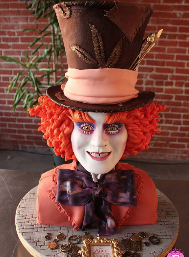 Mad Hatter fondant bust cake