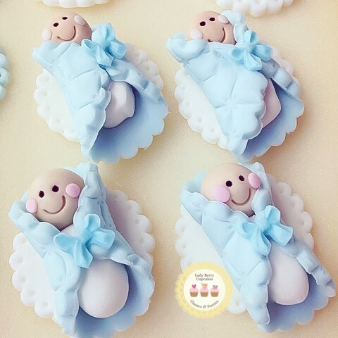 Baby Boy fondant toppers