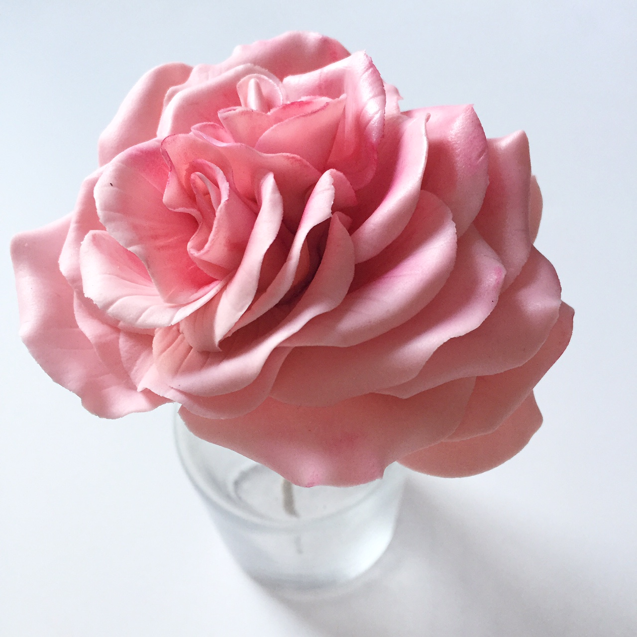 Pink gum paste sugar rose
