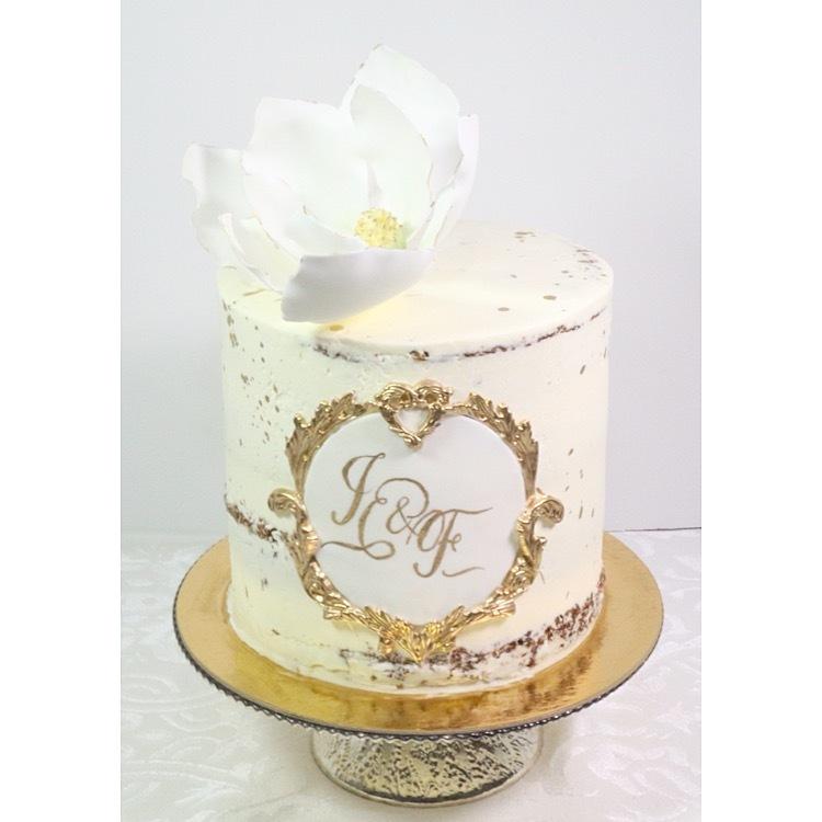 Mini White and Gold Wedding