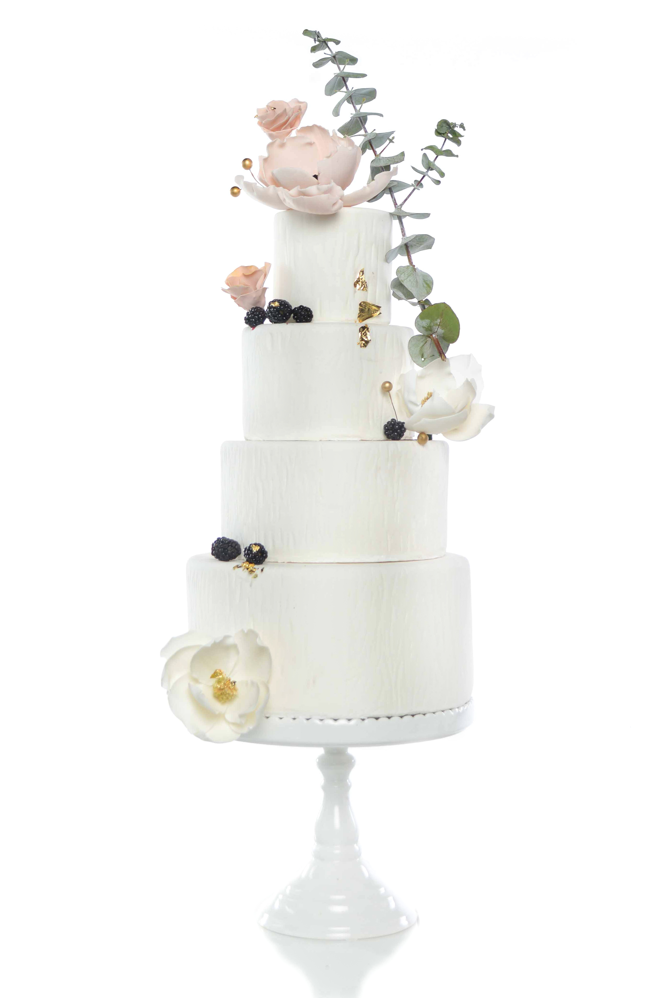 White Wedding with assorted Sugar Flowers