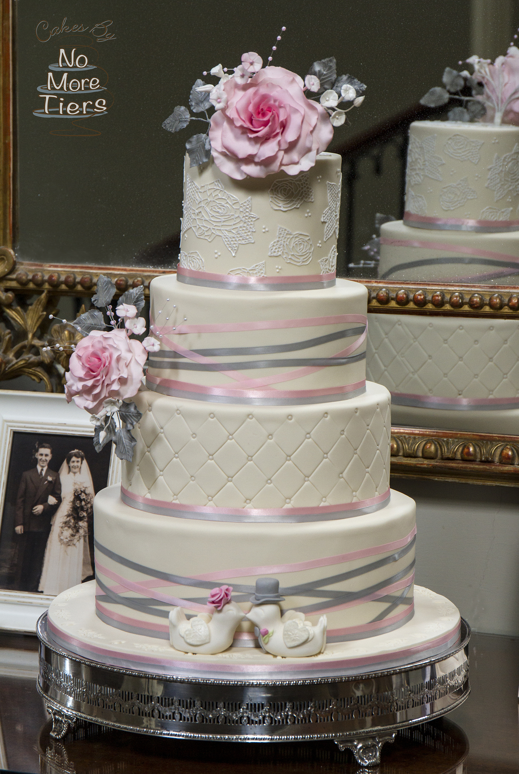 White & pink wedding