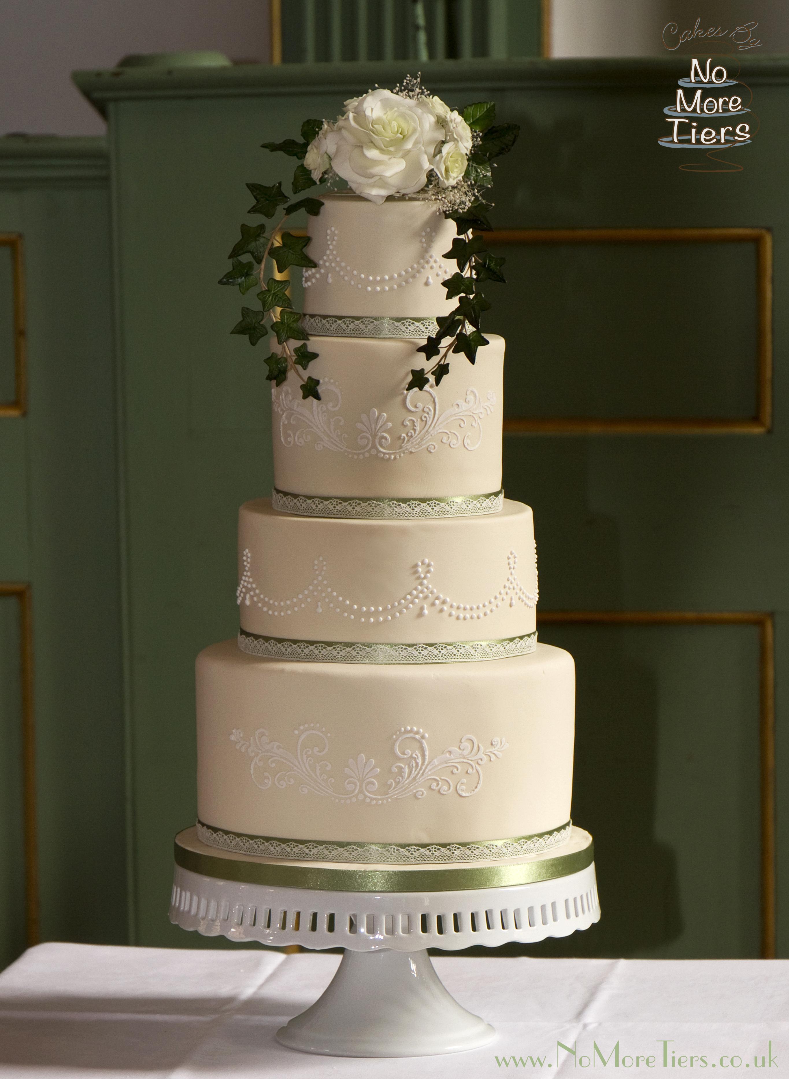 Ivory vintage wedding
