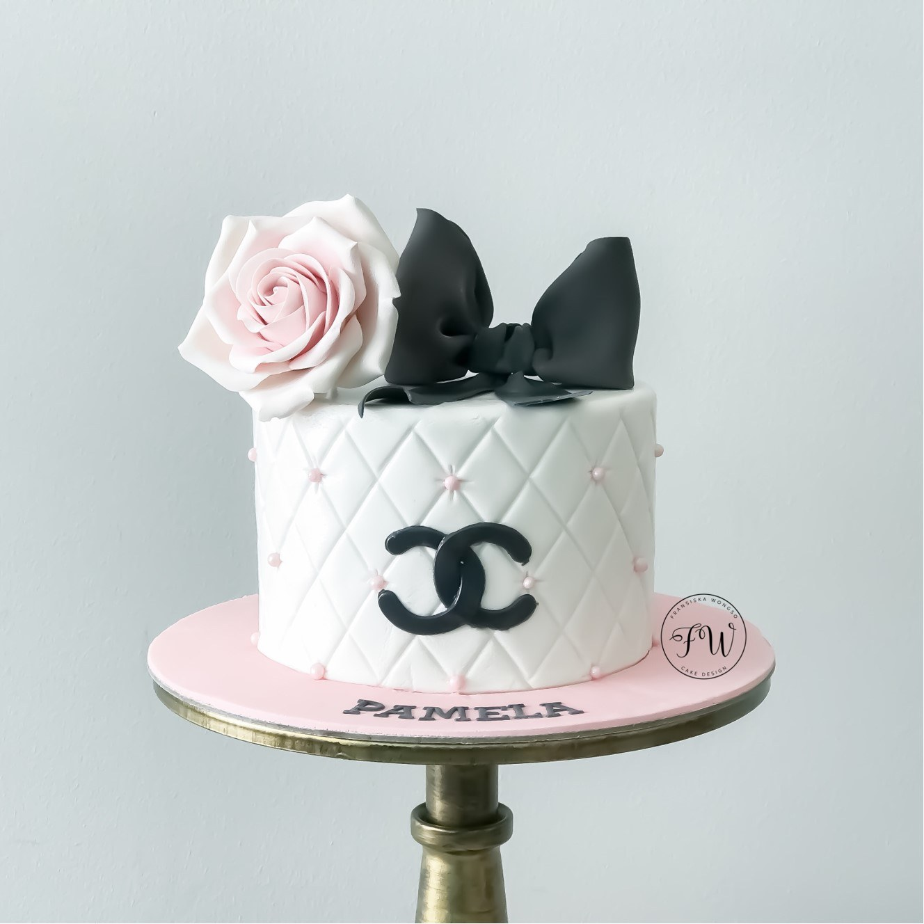 Chanel themed birthday cake
