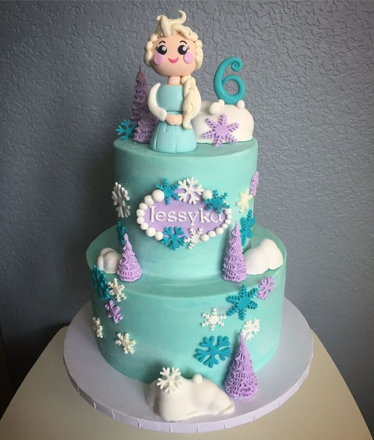 Frozen themed princess birthday