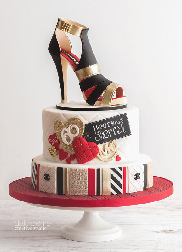High Heel Shoe fondant birthday Cake