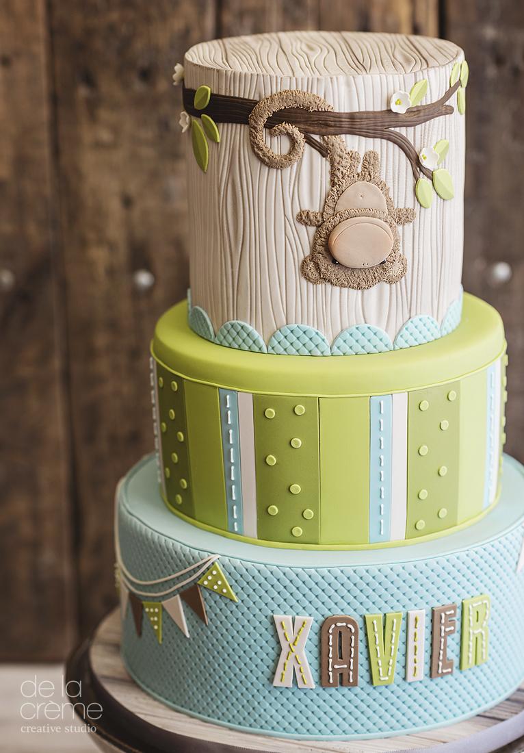 Fuzzy Monkey fondant cake