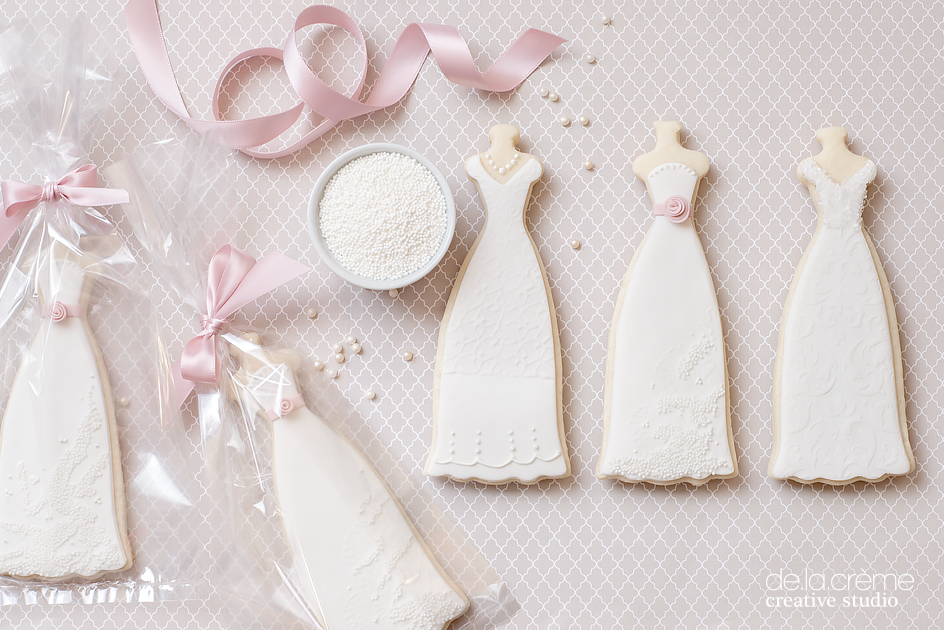 Wedding Dress Bridal Shower Cookies