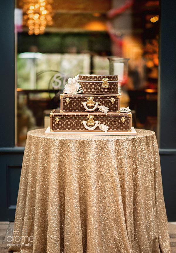 Louis Vuitton Luggage fondant cake