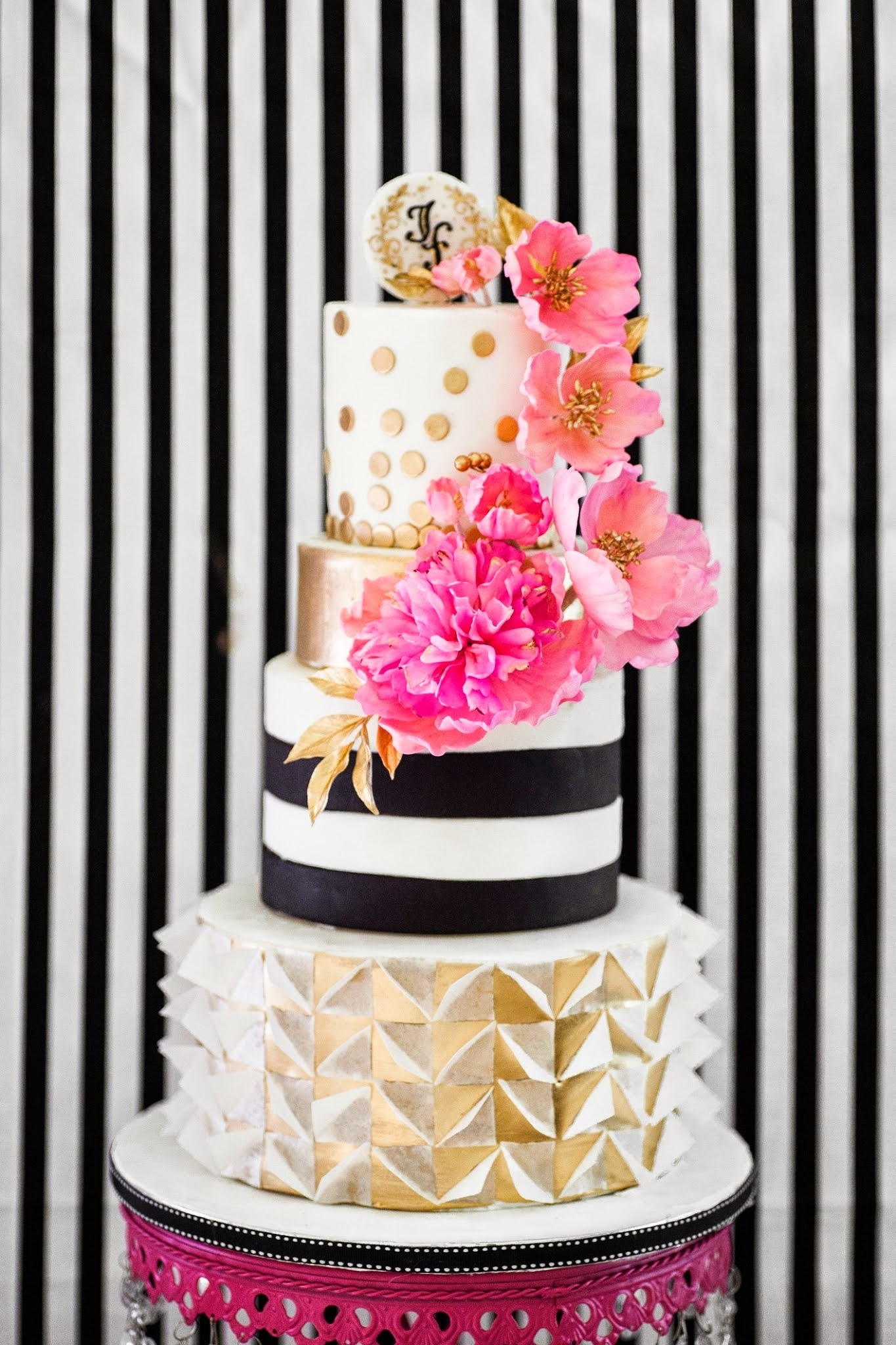 Striped with Polka Dot Wedding