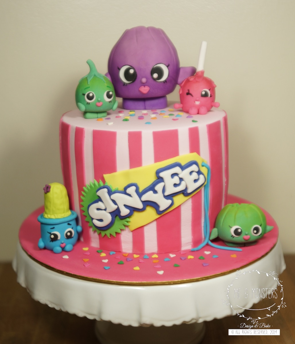 Mini striped shopkins birthday