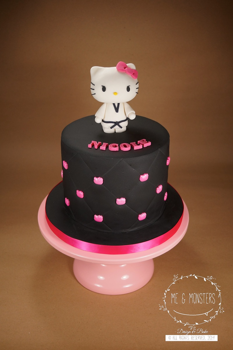 Mini black and pink hello kitty birthday