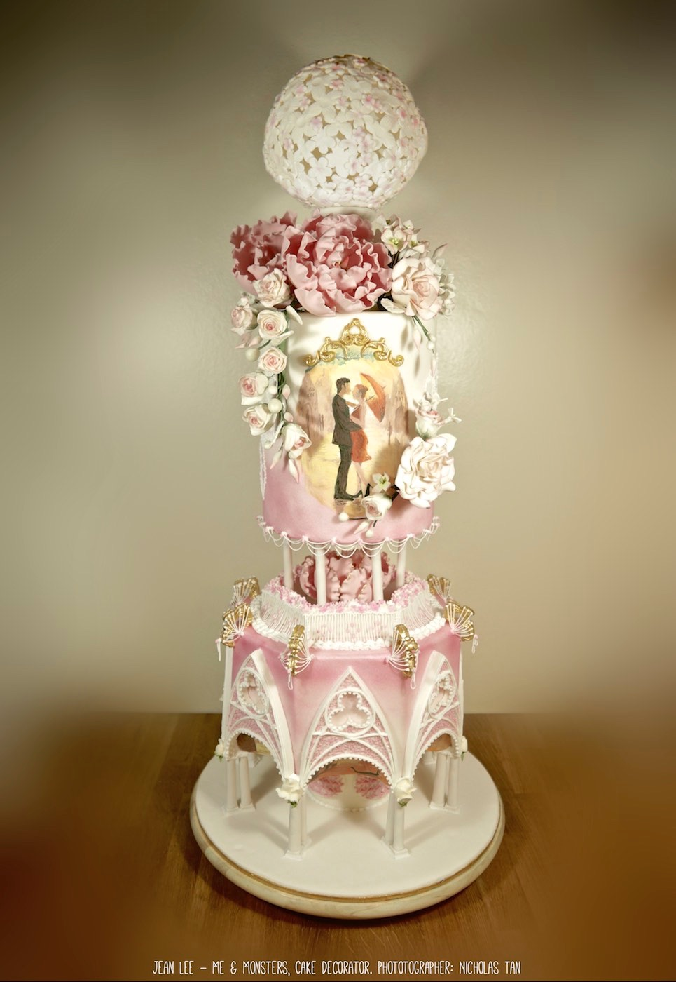 Victorian pink and ivory wedding