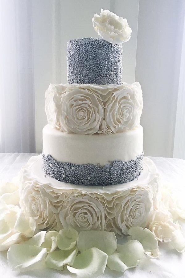 Silver & white Wedding