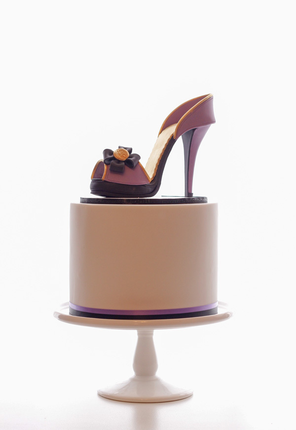 Purple high heel