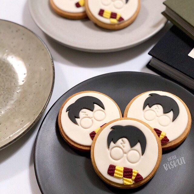 Harry Potter fondant cookies