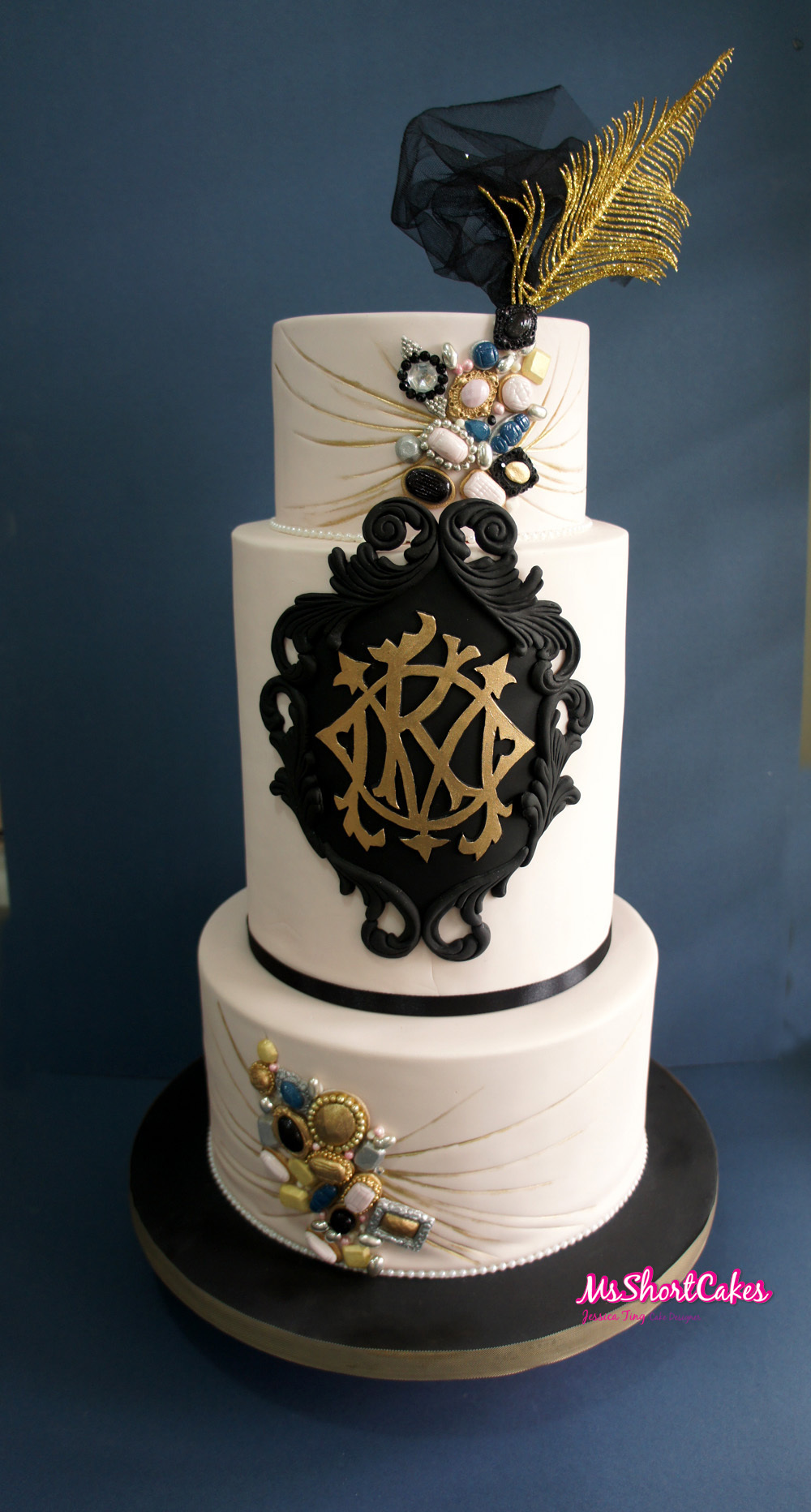 Black & White Wedding with gold