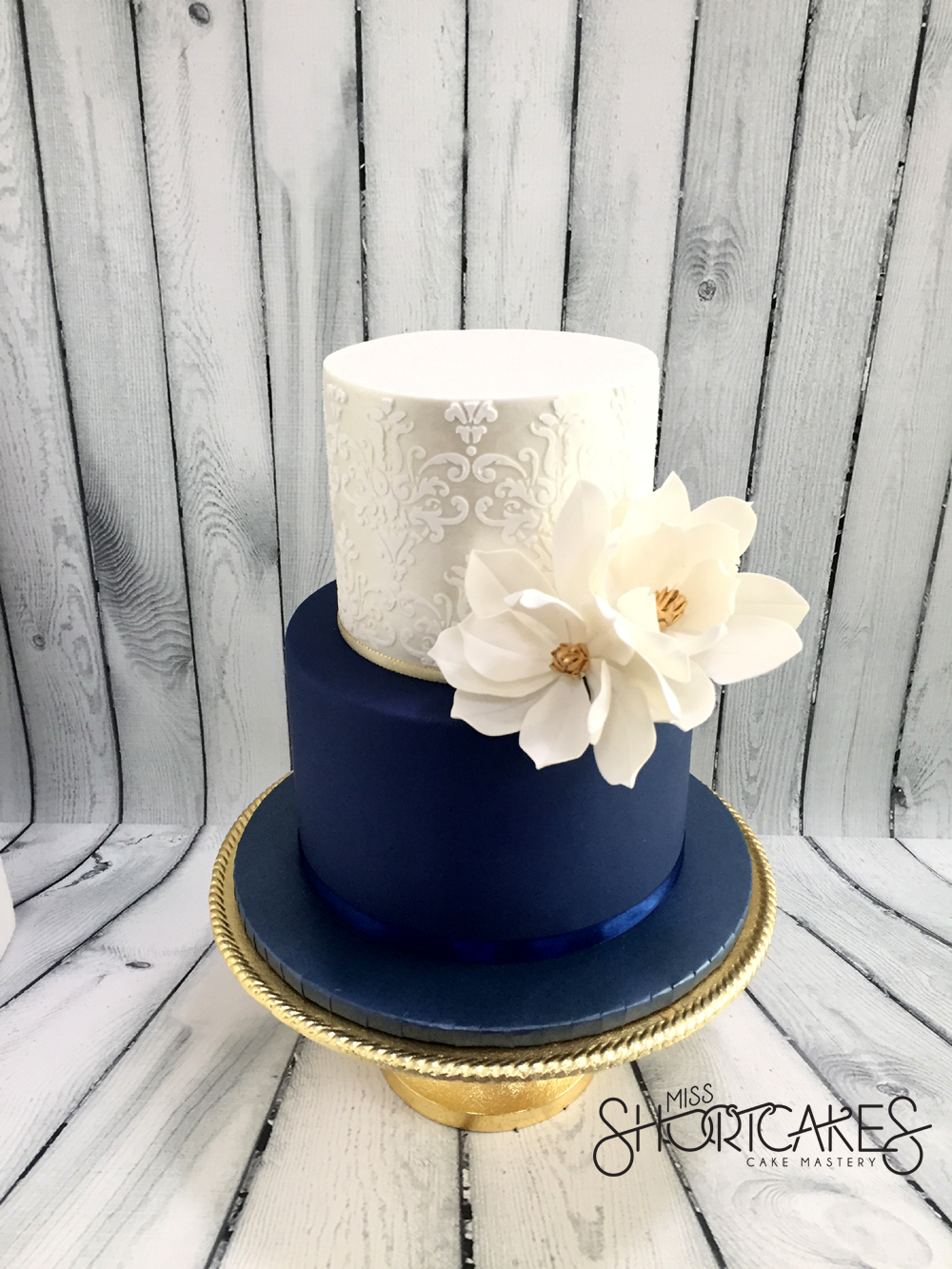 Navy Blue & Silver Wedding