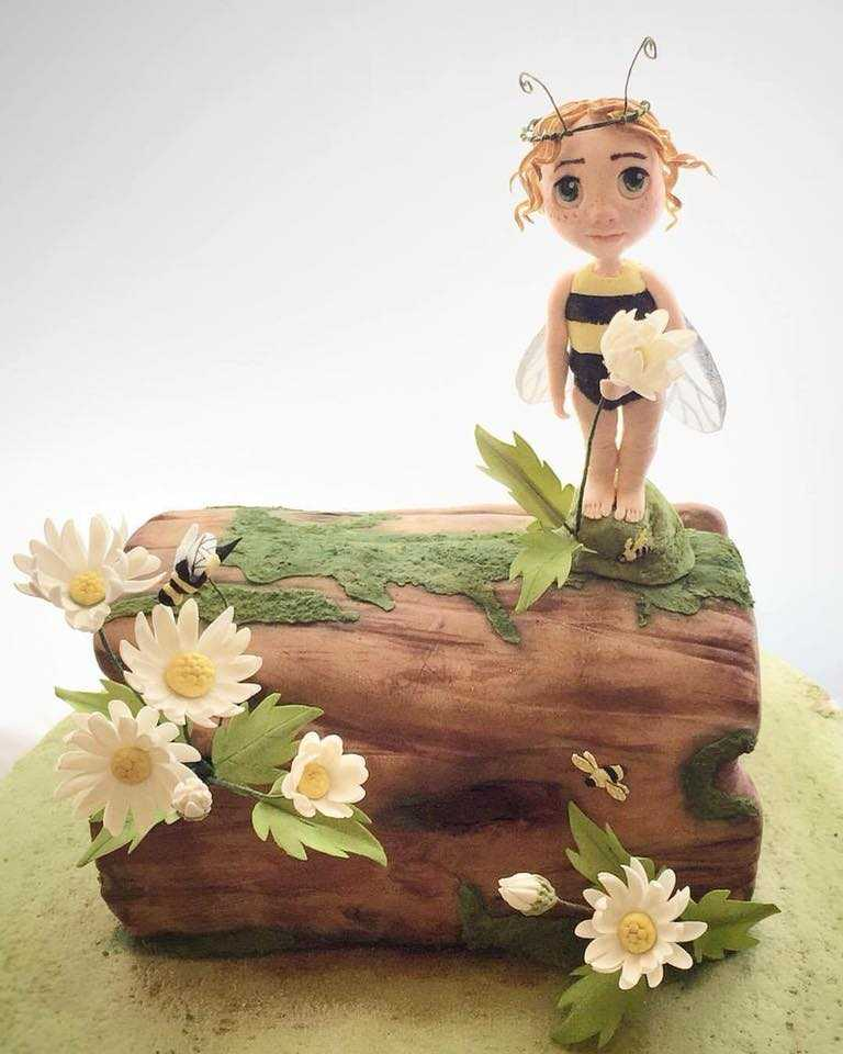 Woodland fairy fondant figurine