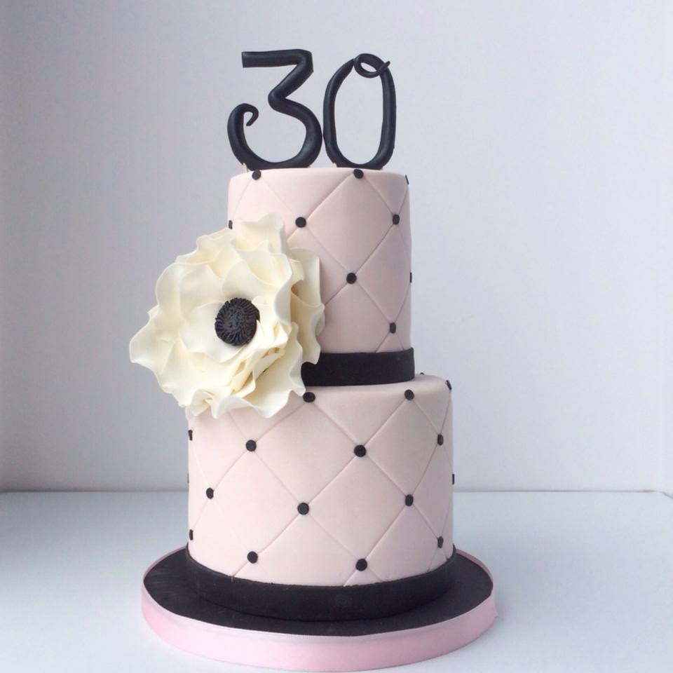 Pink & Black birthday cake