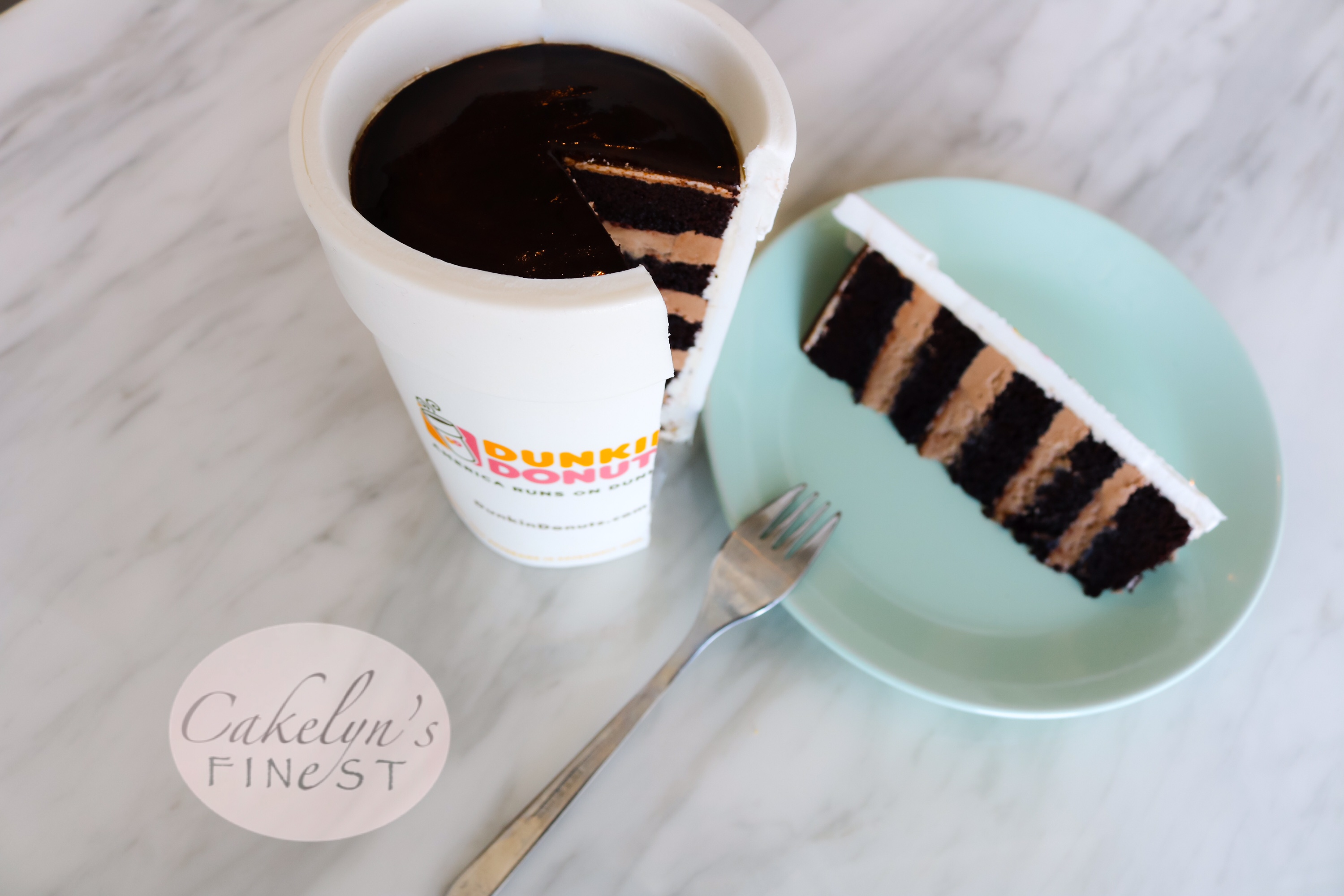 Dunkin Donuts coffee cup cake