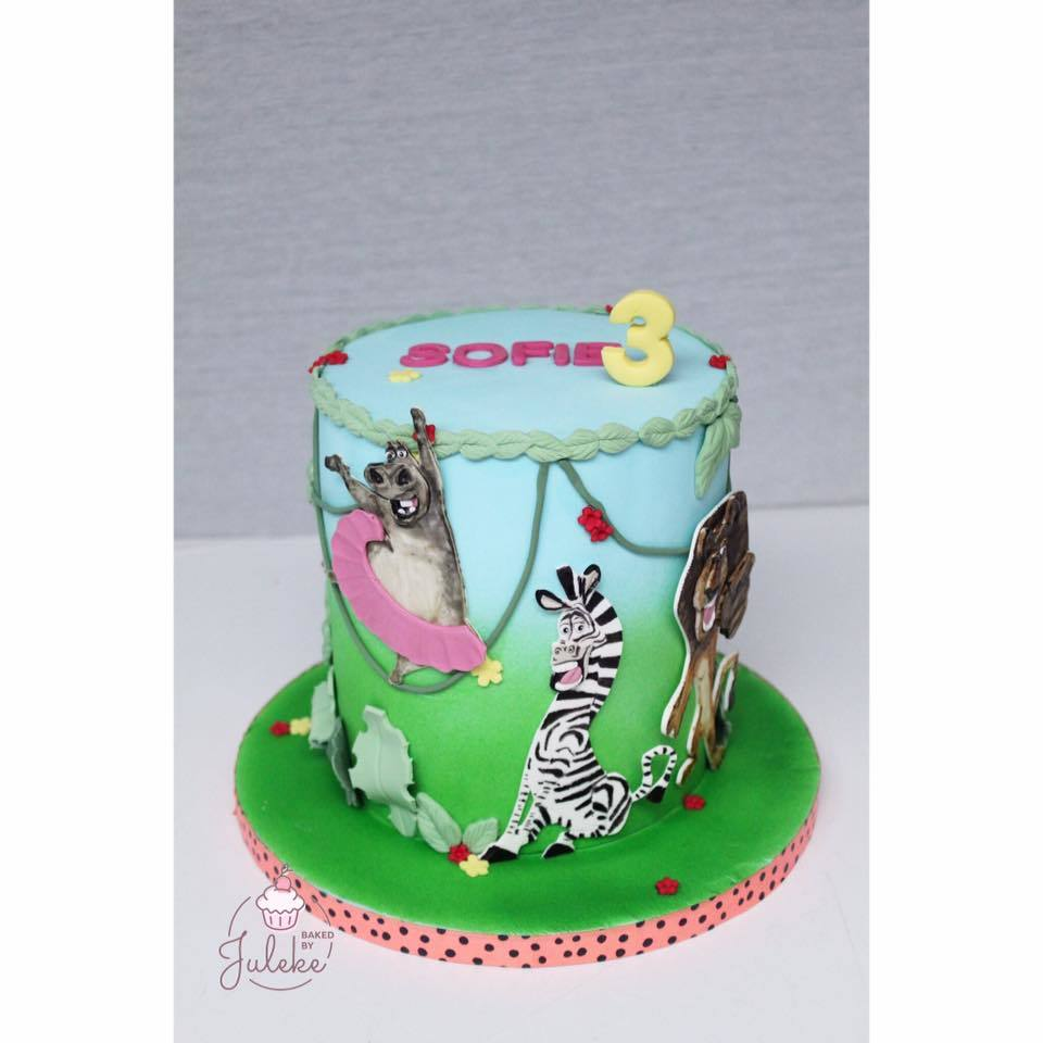 Madagascar Birthday Cake