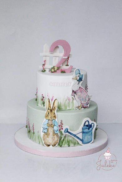 Hand painted Peter Rabbit Birthday