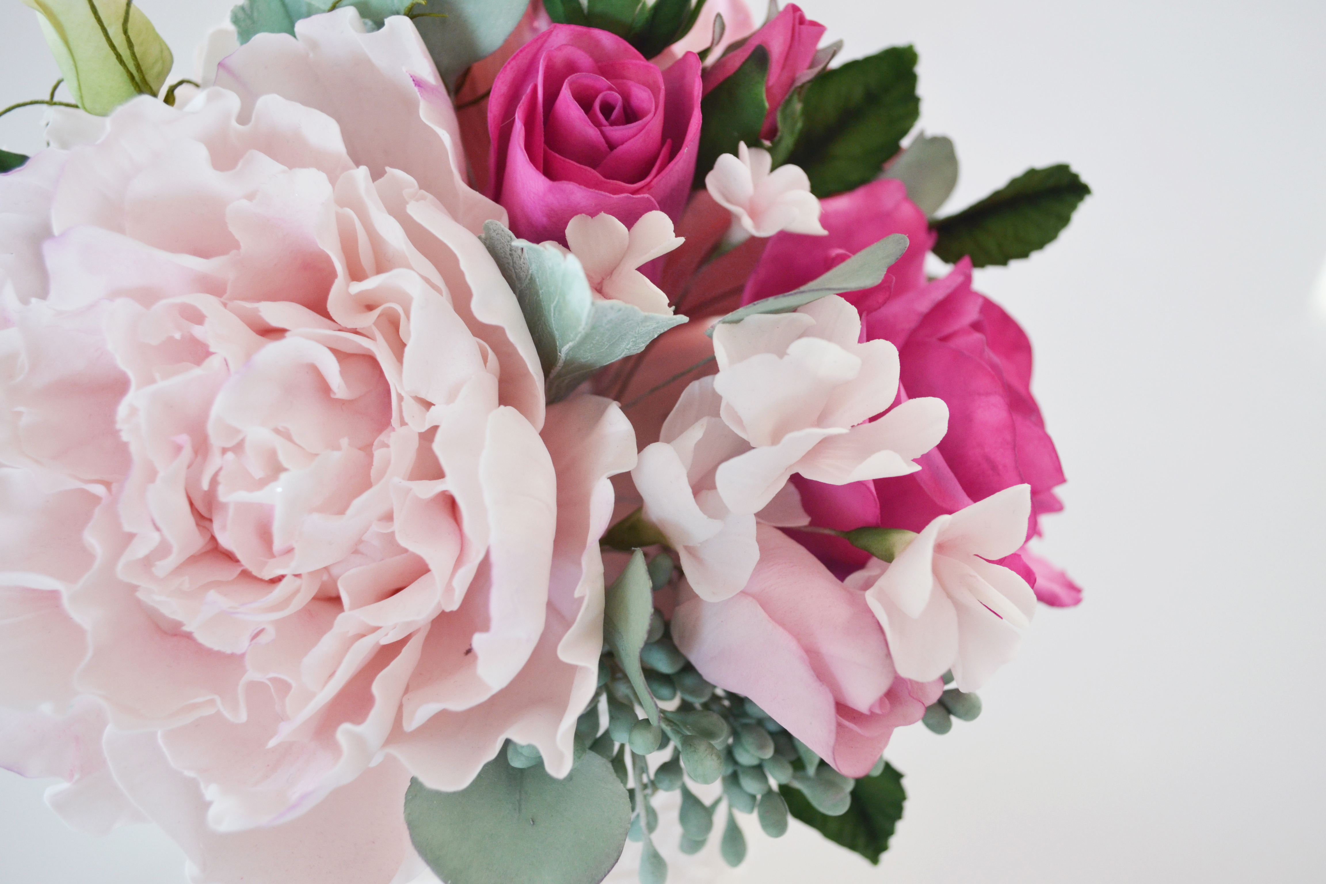 Baby pink and Pink Sugar flower Bouquet