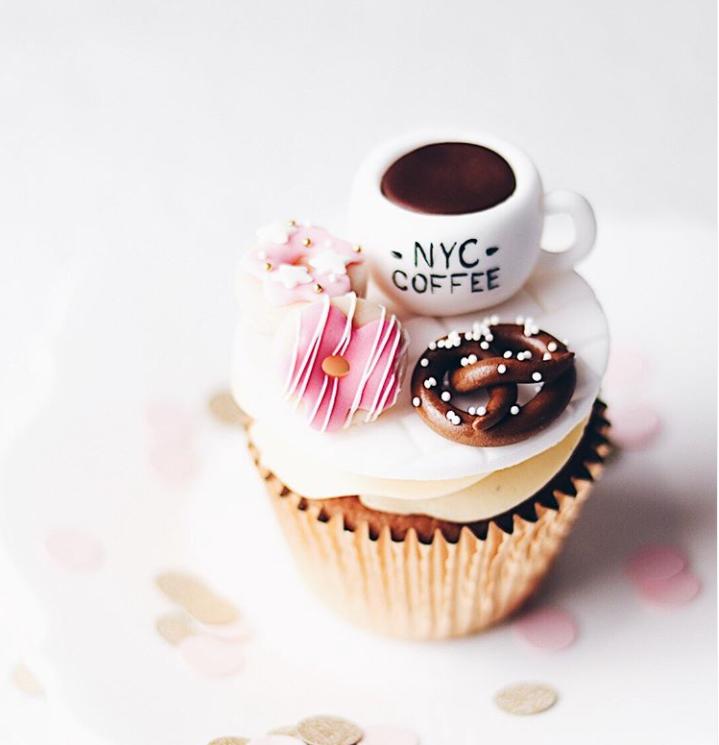 coffee mug cupcake toppers