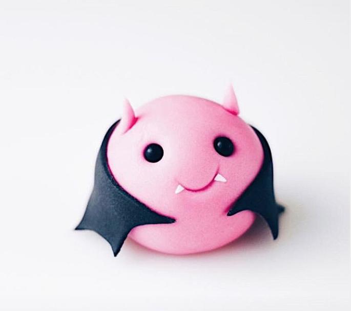 Halloween vampire bat cupcake toppers