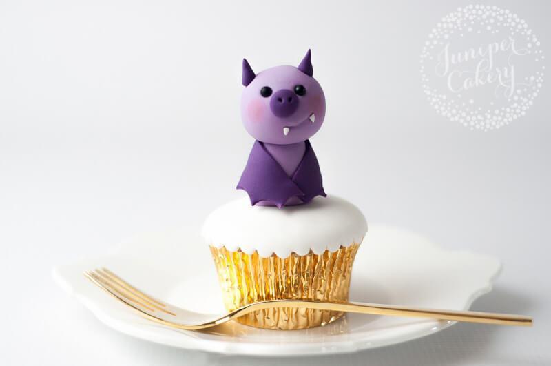 Halloween bat cupcake topper