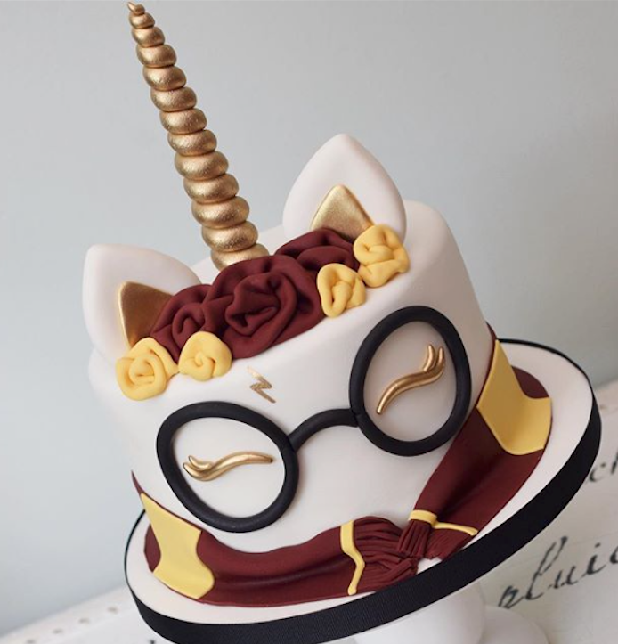 Harry Potter unicorn birthday cake