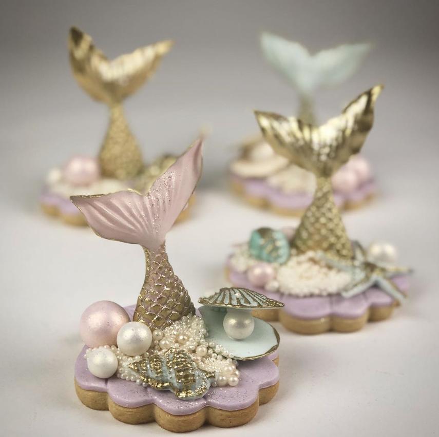 Mermaid tail cookies