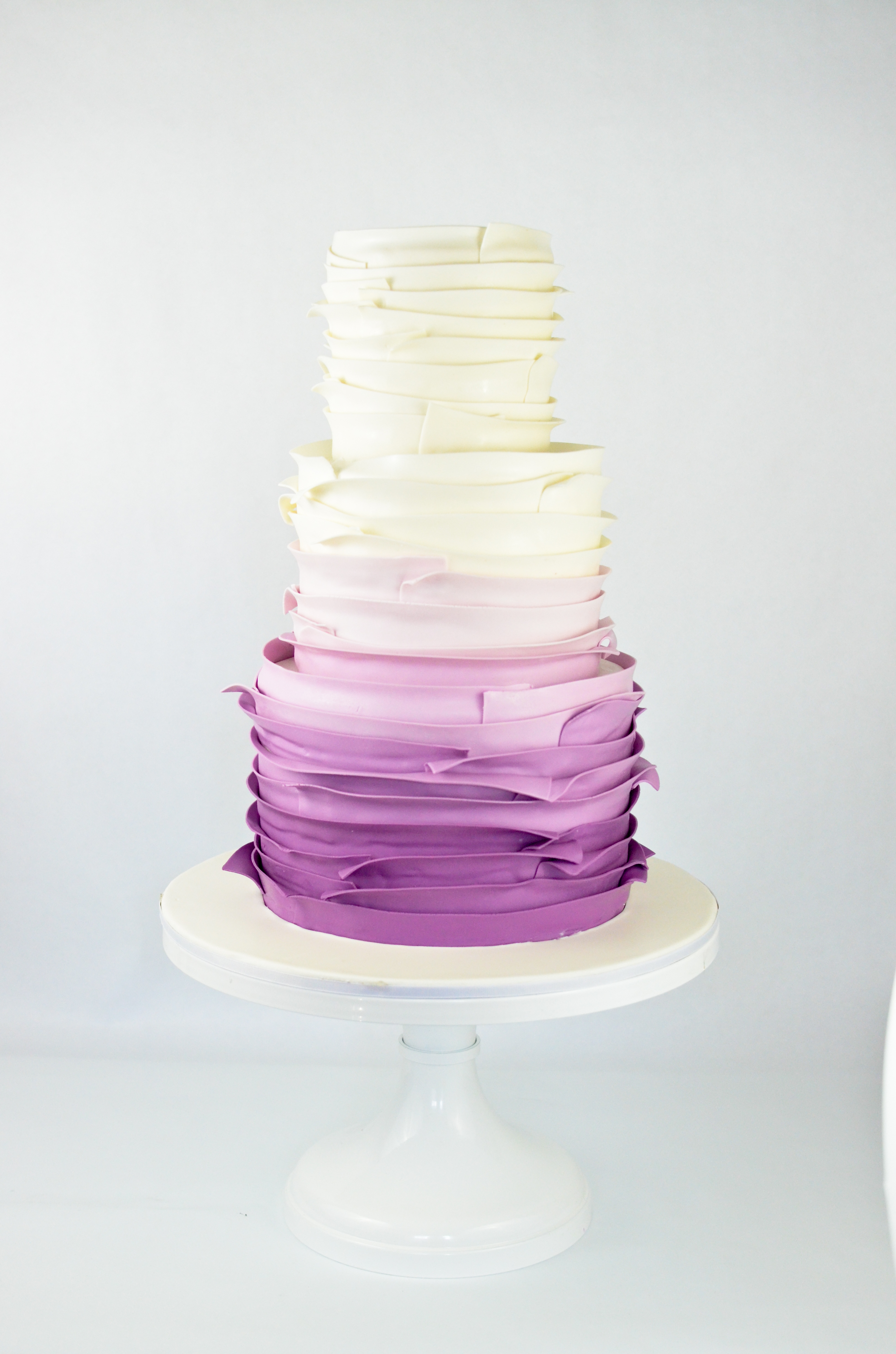 Purple and white Ombre Wedding cake