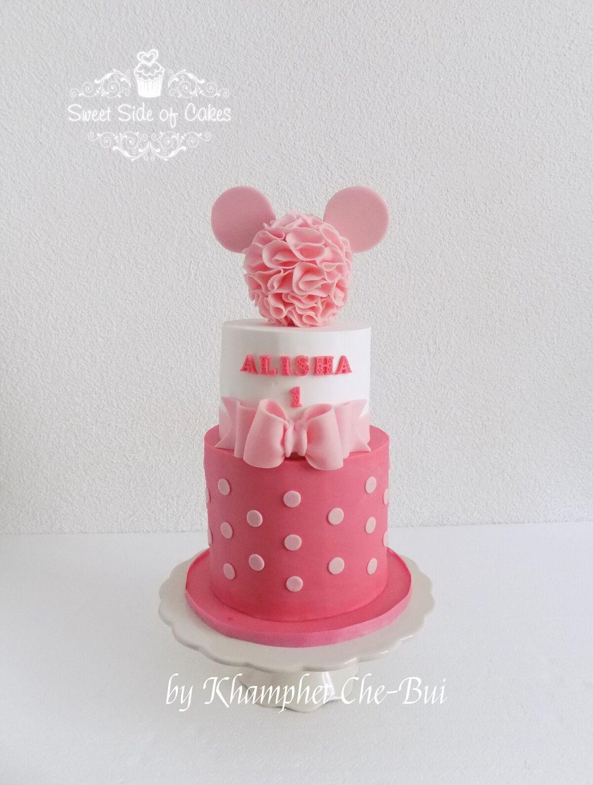 Pink & White Minnie Mouse Girl Birthday