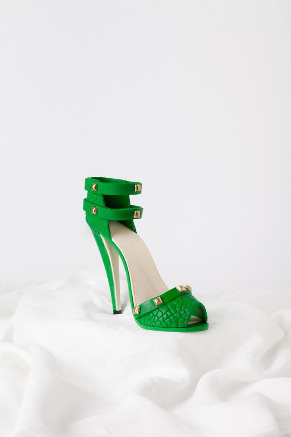 Green high heel