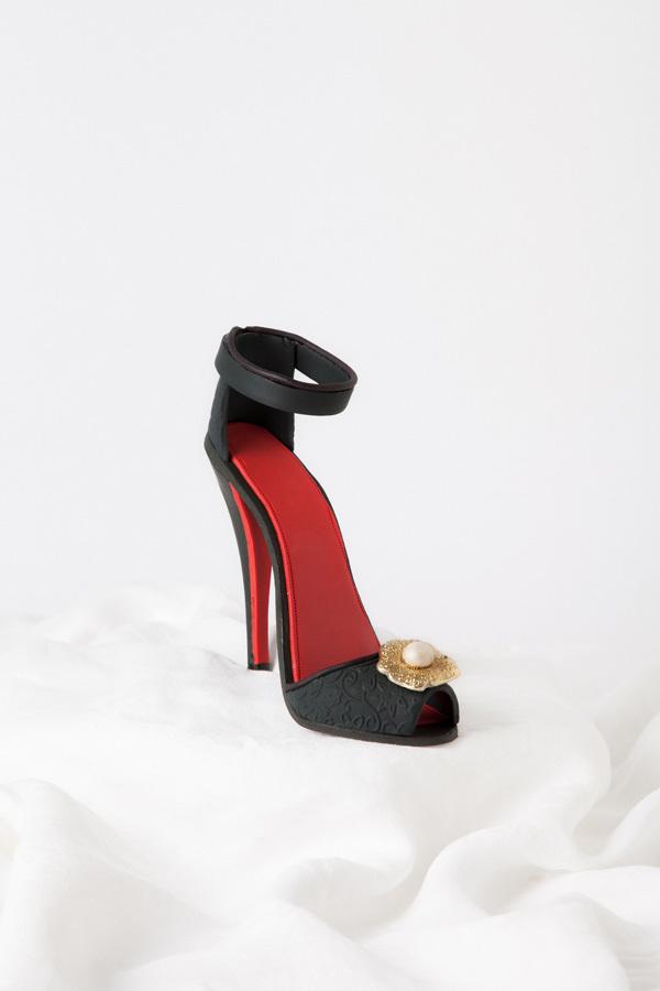 Black High Heel sugar shoe