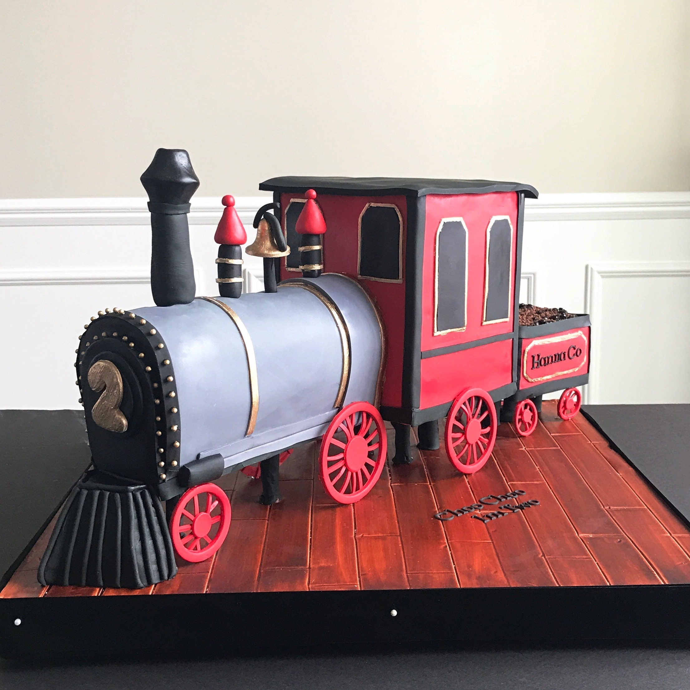 Train shaped birthday