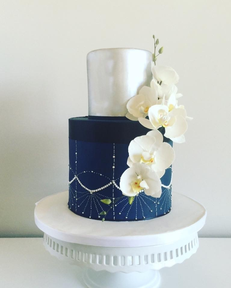 Silver and Navy blue Wedding