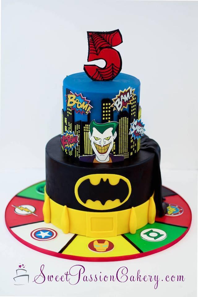 Superhero boy birthday cake