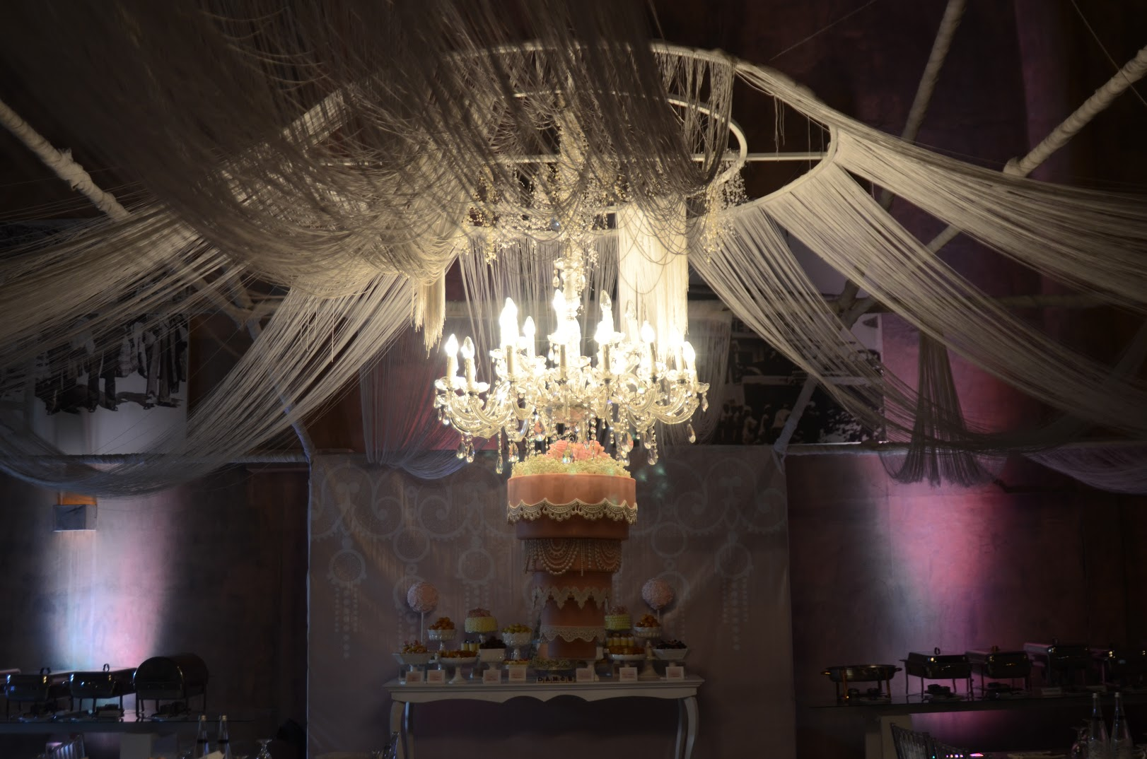 Hanging Chandelier wedding cake