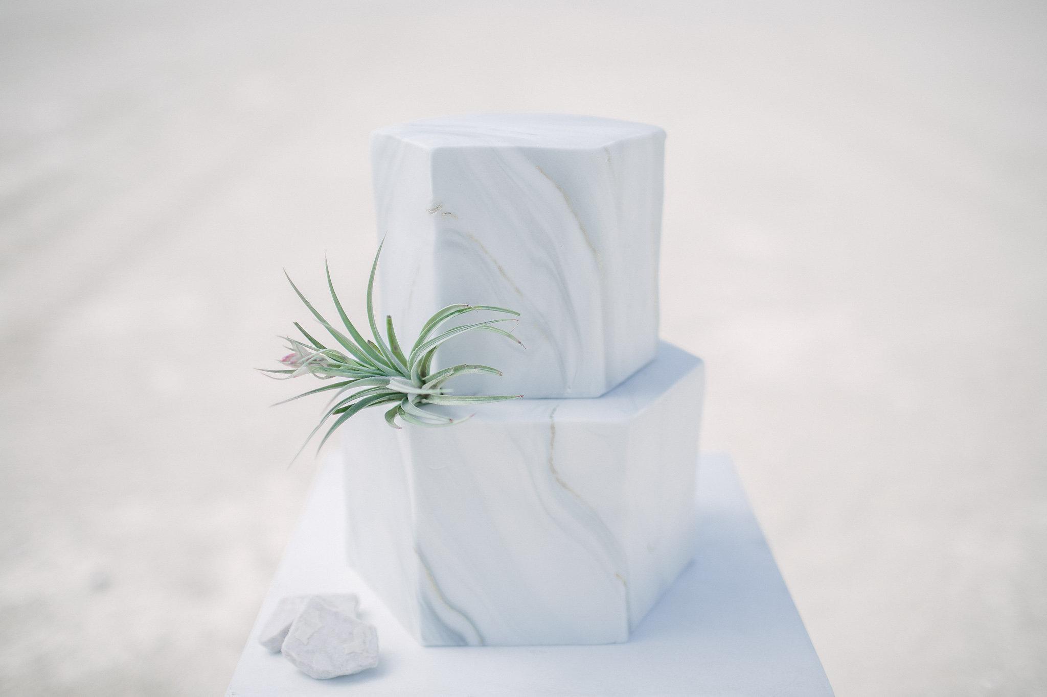 Gray marble fondant wedding
