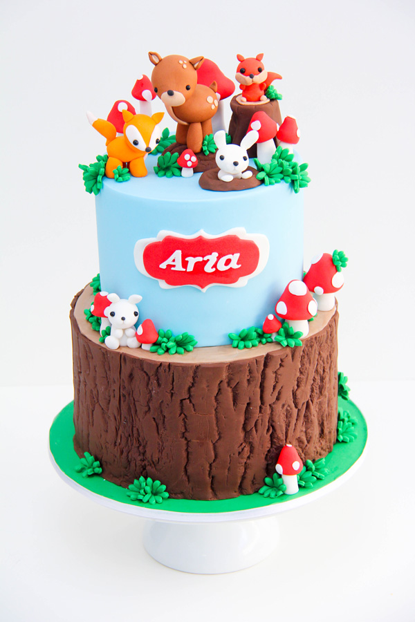 Woodland animal Birthday cake