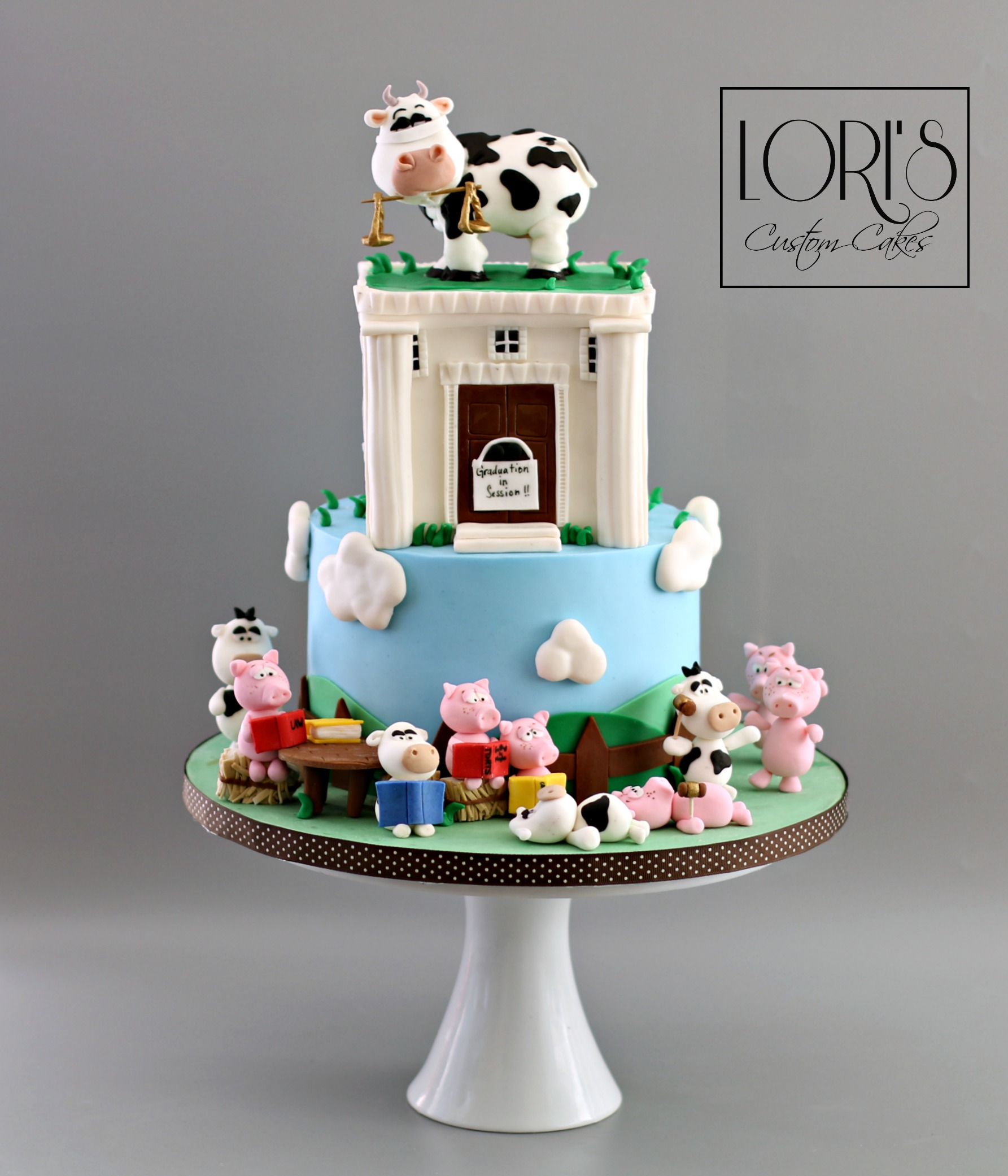 Barn yard birthday cake