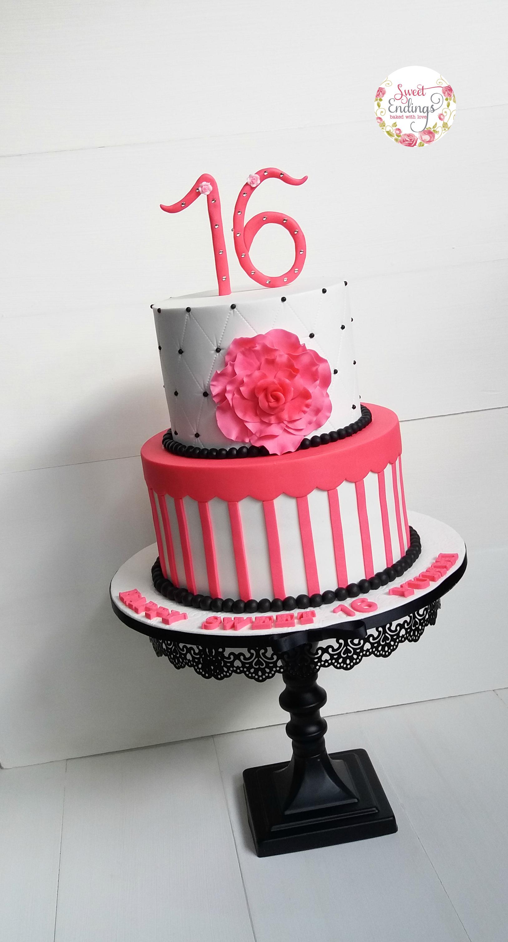 Pink & White Girls Birthday