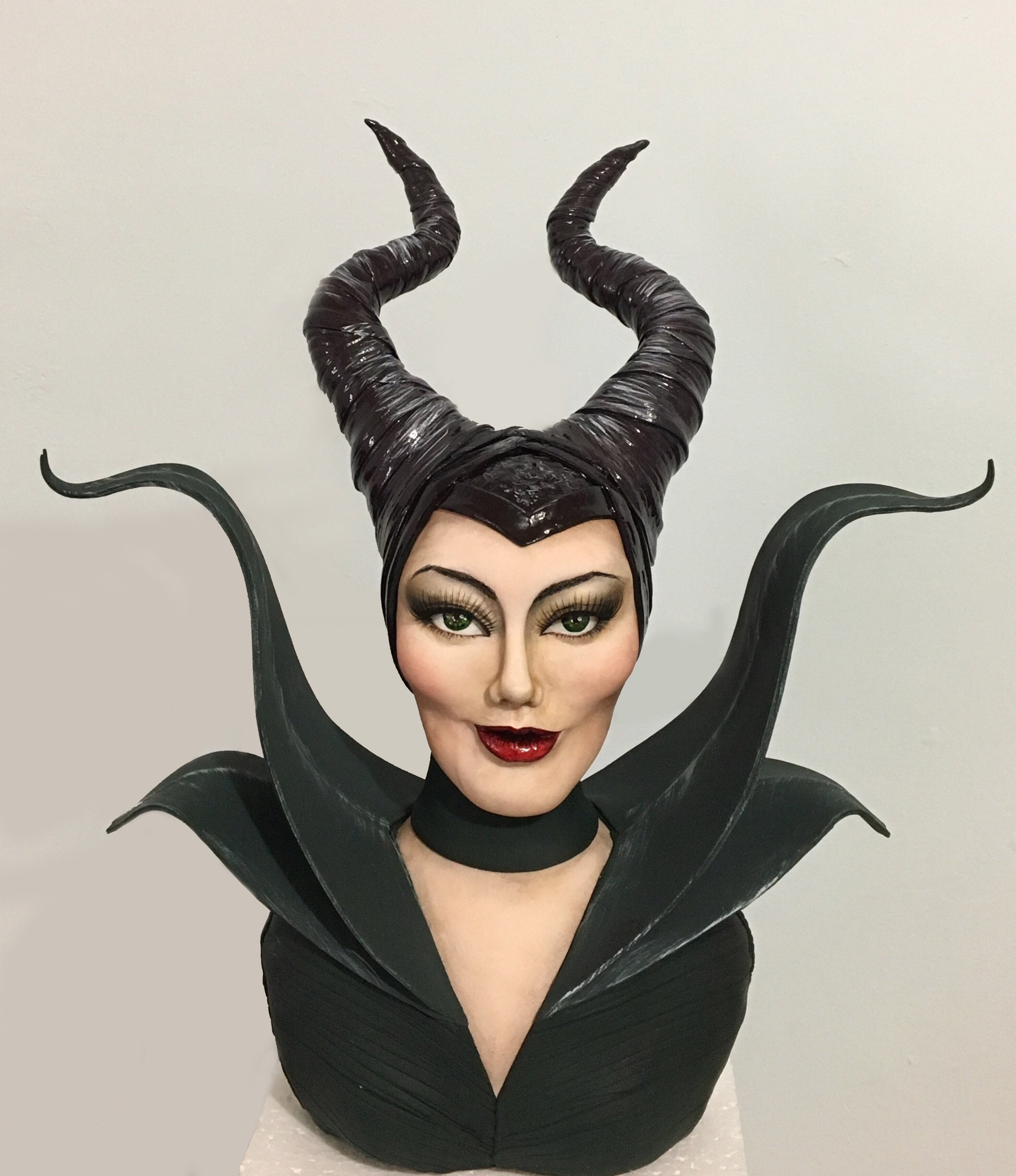 Maleficent bust cake