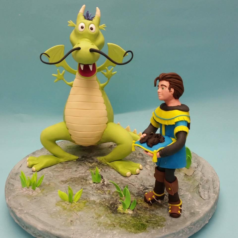 Dragon and Prince Figurine
