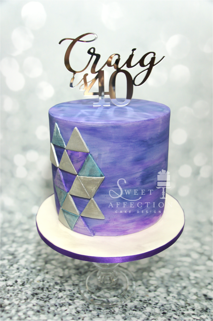 Purple Geometric Birthday