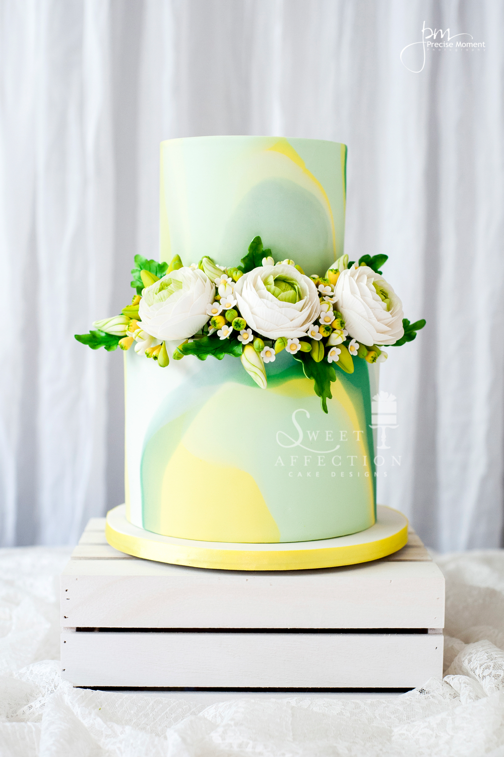 Pastel Green & Yellow Watercolor Wedding
